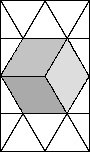 an isometric projection of a cube
